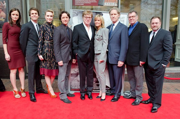 The Conspirator DC premiere 2011 Alexis Bledel Johnny SImmons Evan Rachel Wood James McAvoy Robert Redford Robin Wright Kevin Kline Tom Wilkinson Stephen Root