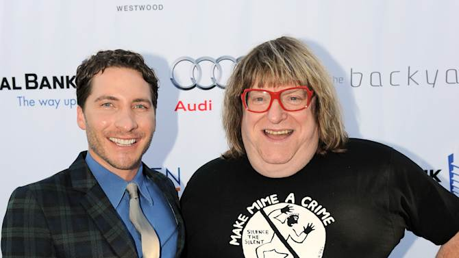 Bruce Vilanch, right, and a guest attend the Backstage at the Geffen gala donor dinner at the W Hotel on Monday, May 13, 2013, in Los Angeles. (Photo by Jordan Strauss/Invision for Geffen/AP Images)