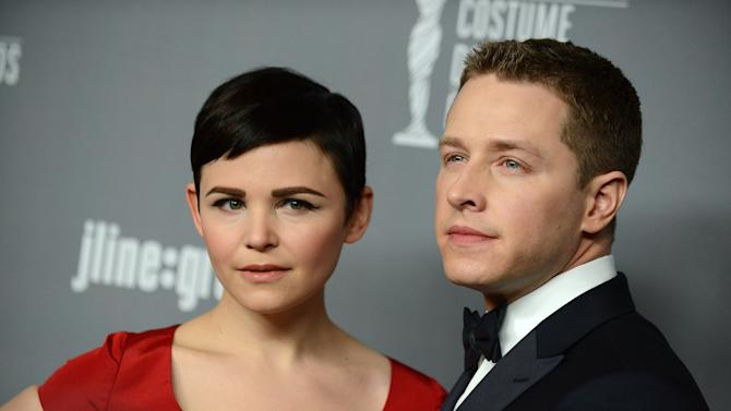Ginnifer Goodwin, left, and Josh Dallas arrive at the 15th Annual Costume Designers Guild Awards at The Beverly Hilton Hotel on Tuesday, Feb. 19, 2013 in Beverly Hills. (Photo by Jordan Strauss/Invision/AP)