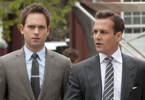 Patrick J. Adams, Gabriel Macht | Photo Credits: Christos Kalohoridis/USA Network