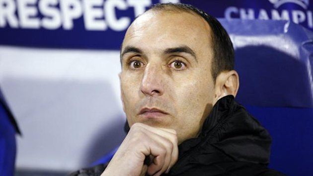 Dinamo Zagreb coach Krunoslav Jurcic looks on during their Champions League in 2011 (Reuters)