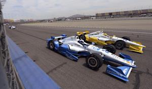 Juan Pablo Montoya (2), from Colombia, drives next…