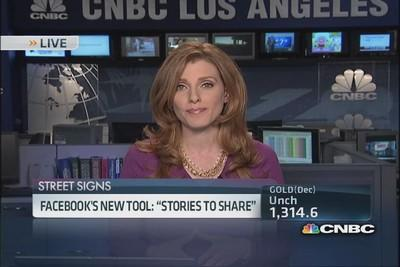 Facebook's new 'stories to share'