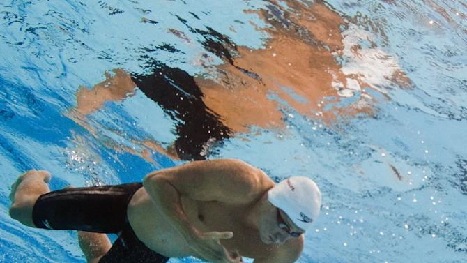 In a picture taken with an underwater camera US swimmer Ryan Lochte competes in the heats of the men's 200-meter individual medley swimming event in the FINA World Championships at the indoor stadium of the Oriental Sports Center in Shanghai on July 27, 2011.  AFP PHOTO / FRANCOIS XAVIER MARIT (Photo credit should read FRANCOIS XAVIER MARIT/AFP/Getty Images)