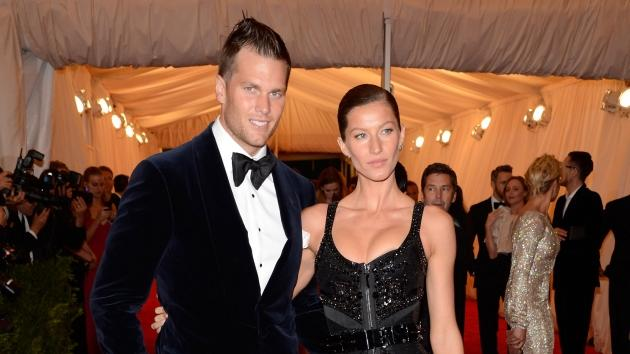 Tom Brady and Gisele Bundchen step out at the 'Schiaparelli And Prada: Impossible Conversations' Costume Institute Gala at the Metropolitan Museum of Art in New York City on May 7, 2012 -- WireImage