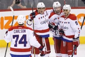 Ovechkin, Caps pound Jets 6-1