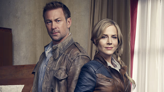 Defiance - Season 1: Grant Bowler and Julie Benz