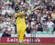 Shane Watson smashed an unbeaten 41 from 24 deliveries to guide Australia to victory