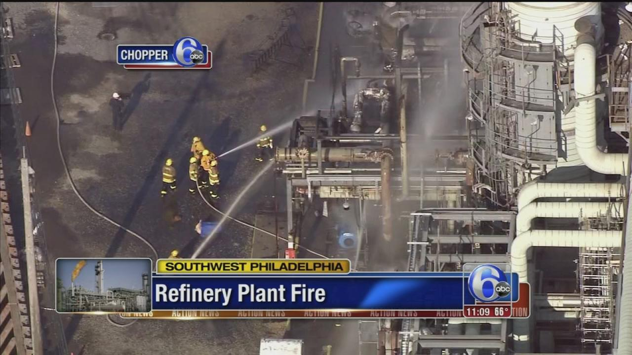 Fire out at old Sunoco refinery in South Philadelphia