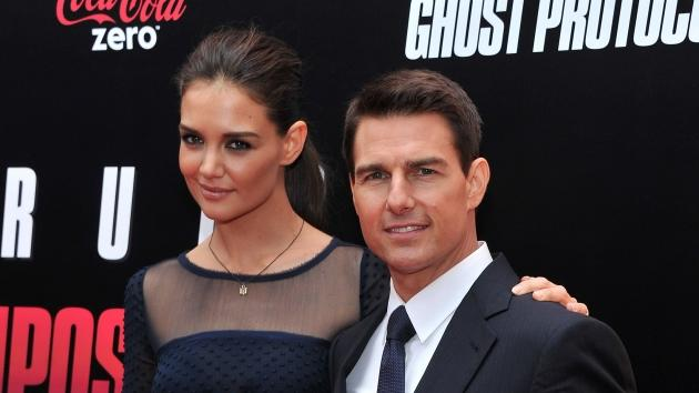 Katie Holmes and Tom Cruise step out at the 'Mission: Impossible - Ghost Protocol' U.S. premiere at the Ziegfeld Theatre in New York City on December 19, 2011  -- Getty Images