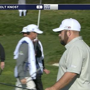 Colt Knost putts in 24-footer at AT&T Pebble Beach