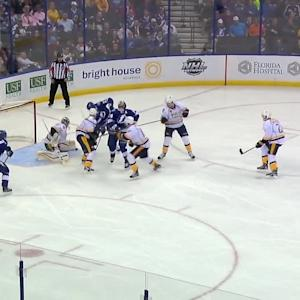 Brown's goal evens game in 2nd