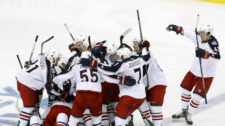 Blue Jackets win first playoff game in franchise history in OT …
