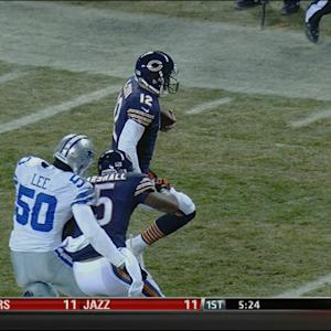 Chicago Bears wide receiver Brandon Marshall can block too