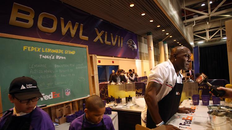NFL: Super Bowl XLVII-Celebrities on Radio Row