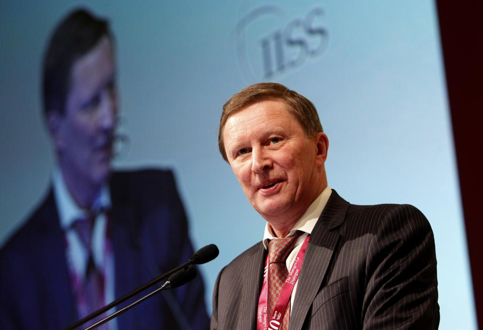 Russian Deputy Prime Minister Sergei Ivanov delivers a speech during the final day of the International Institute for Strategic Studies (IISS) Asia Securities Summit, the Shangri-La Dialogue in Singapore, Sunday, June 5, 2011. (AP Photo/Wong Maye-E)