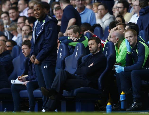 Tottenham Hotspur's manager Sherwood reacts during their English Premier League soccer match against Arsenal in London