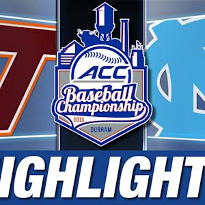 Virginia Tech vs North Carolina | 2015 ACC Baseball Championship Highlights