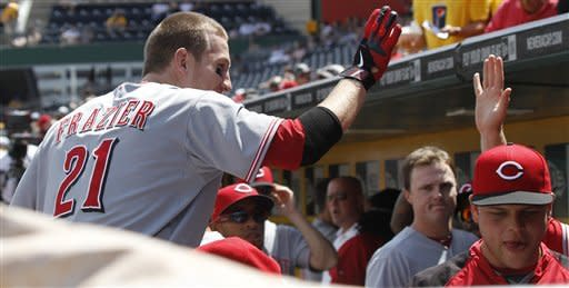 Latos strikes out 11 as Reds silence Pirates 5-0