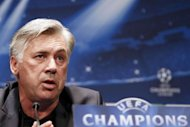 "Paris Saint-Germain's (PSG) L1 football club's head coach Carlo Ancelotti speaks during a press conference on September 17. Paris St Germain have got their faltering start to the season back on track with three successive victories, the latest coming in the Champions League, but Ancelotti insisted that ""it's not all perfect"""