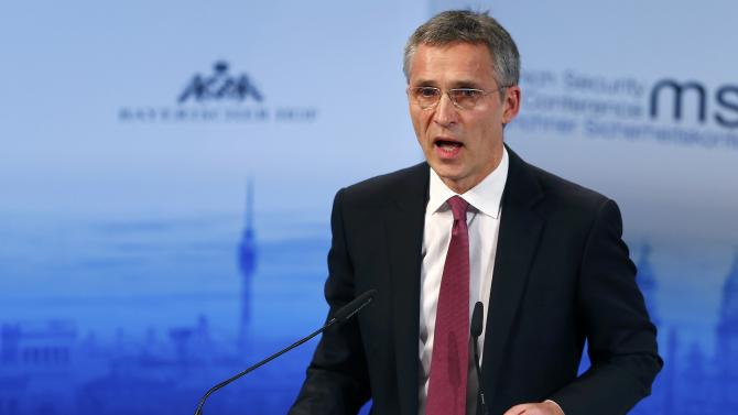 NATO Secretary General Stoltenberg delivers a speech at the Munich Security Conference in Munich