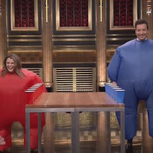 Jimmy Fallon and Keri Russell Take Flip Cup To A Whole New Level