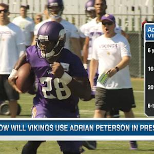 How much action will Adrian Peterson see in preseason games?