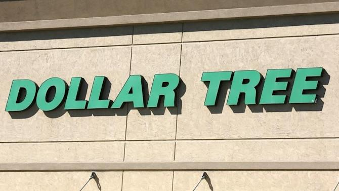 A view of the sign outside the Dollar Tree store in Westminster
