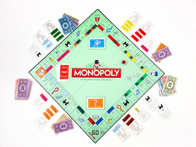 This product image provided by Hasbro, shows the board game Monopoly. The end is near for the shoe, wheelbarrow or iron in the classic Monopoly game as fans vote Tuesday, Feb. 5, 2013 in the final hou