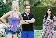 Malin Akerman, Bradley Whitford and Michaela Watkins | Photo Credits: Danny Feld/ABC