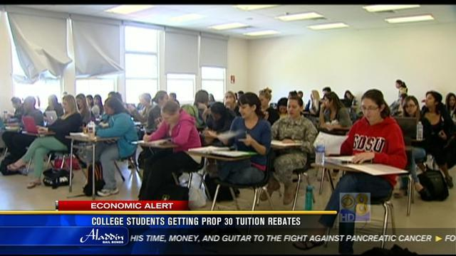 College students getting Prop 30 tuition rebates