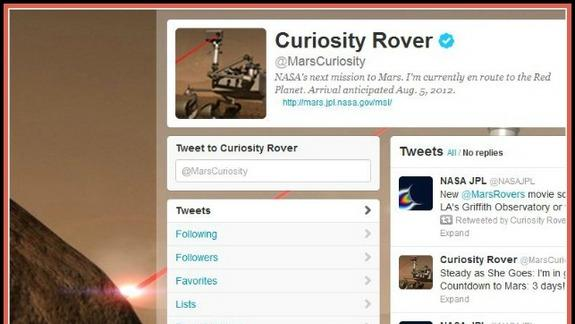 Mars Rover Curiosity Tells Her Story on Twitter