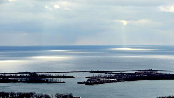 Looking at the Eastern Gap and the Leslie Spit.