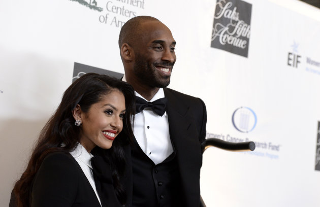 <p> Los Angeles Lakers guard Kobe Bryant, right, and his wife Vanessa Bryant arrive at &quot;An Unforgettable Evening&quot; benefiting EIF's Women's Cancer Research Fund at The Beverly Wilshire on Thursday, May 2, 2013, in Beverly Hills, Calif. (Photo by Dan Steinberg/Invision/AP)