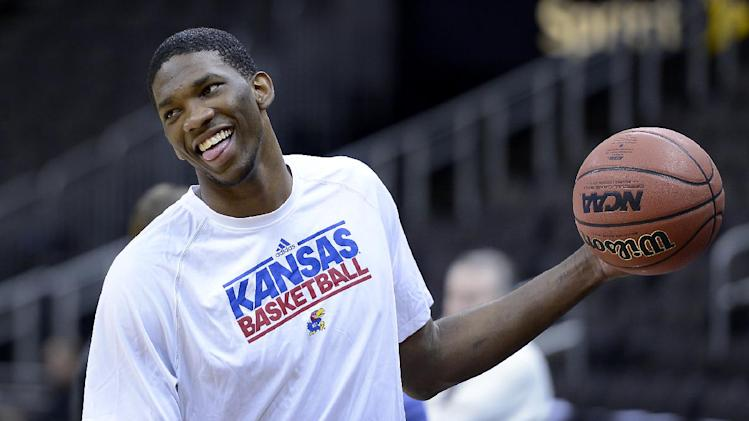 76ers rookie Joel Embiid tilts at windmills, tries to recruit L…