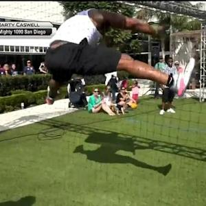 San Diego Chargers linebacker Denzel Perryman has ridiculous dodgeball skills