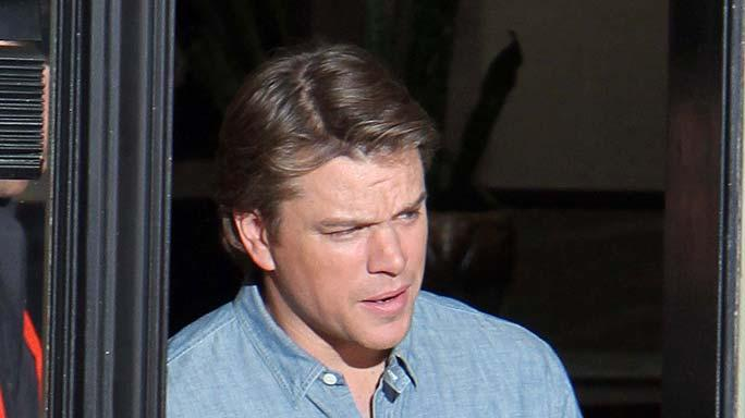 Matt Damon Movie Set