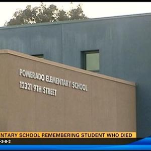 Elementary school remembering student who died