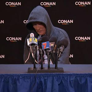 Watch: Conan O'Brien makes fun of Cam Newton's press conference