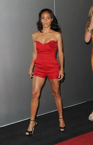 Jada Pinkett Smith shows off her stunning physique at the Capri Sun 'Super V' Launch at Paramount Pictures Screening Room in New York City on June 8, 2012 -- Getty Premium