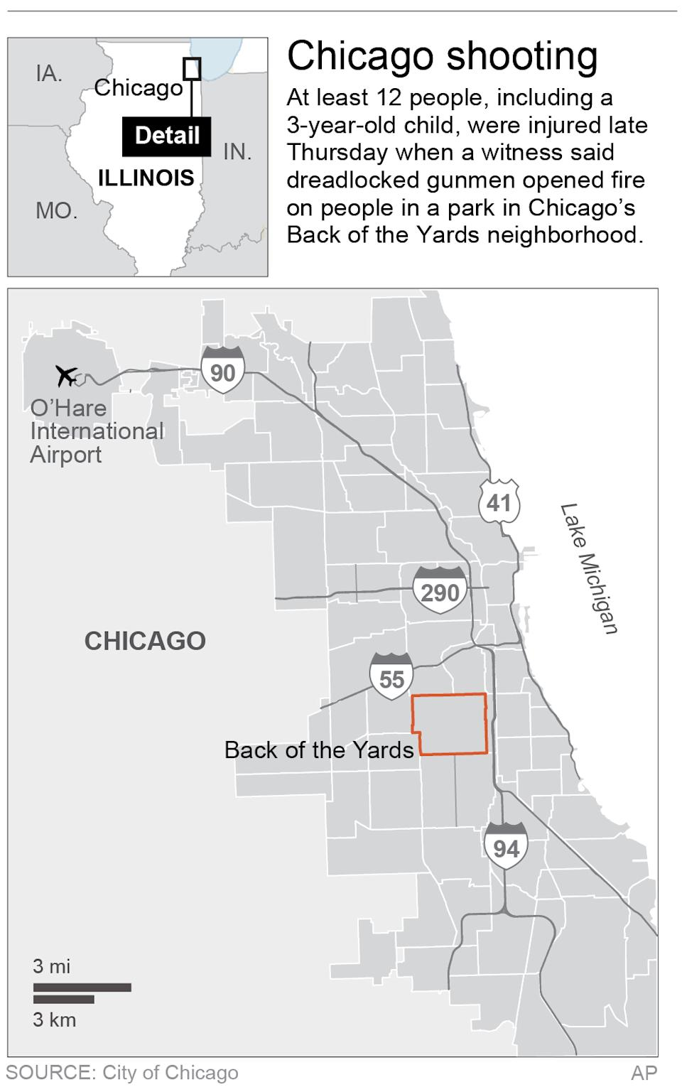 Map updates chatter; locates Back of the Yards neighborhood in Chicago, Ill.; 2c x 5 inches; 96.3 mm x 127 mm;