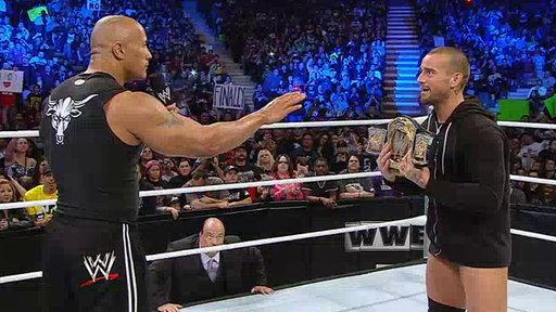 The Rock Puts a Stop to WWE Champion CM Punk