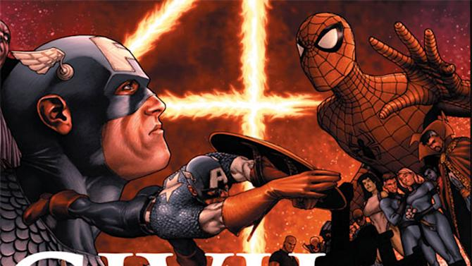 """This image provided by Marvel Entertainment shows the cover of the first issue of """"Civil War."""" In comics, the first issue is where the story starts and the legend begins. Marvel Entertainment, home to the Fantastic Four, the X-Men and the Avengers, among others, is making more than 700 first issues available to digital readers starting Sunday, March 10, 2013, via its app and website. (AP Photo/Marvel Entertainment)"""