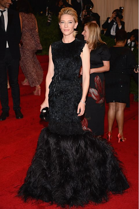 Cate Blanchett wore an Alexander McQueen gown / Getty