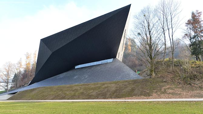 Outside view of the new opera house in Erl , Austria, Tuesday Nov. 20, 2012.  (AP Photo/dapd/ Kerstin Joensson)