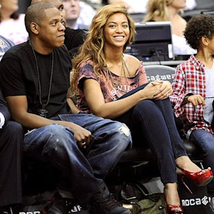 Jay-Z and Beyonc&#xE9;. Photo: AP