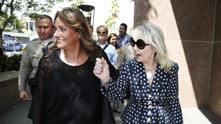 Shelly Sterling, 79, arrives at court in Los Angeles
