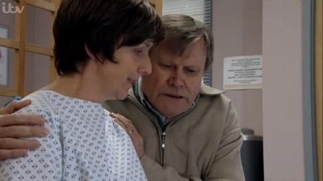 Roy comforts Hayley before her procedure.