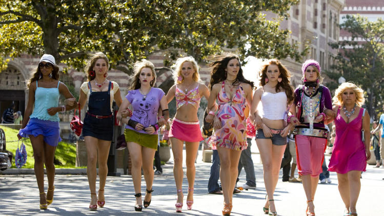 Kiely Williams Dana Goodman Kat Dennings Katherine McPhee Emma Stone Rumer Willis Anna Faris The House Bunny Production Stills Columbia 2008