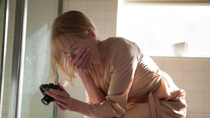 """This photo provided by Clarius Entertainment shows Nicole Kidman, as Christine Lucas, in a scene from the film, """"Before I Go To Sleep."""" The film opens in U.S. theaters on Friday, Oct. 31, 2014. (AP Photo/Clarius Entertainment, Laurie Sparham)"""
